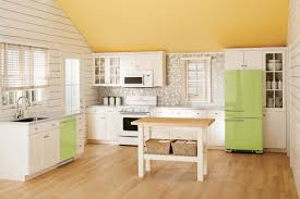 Country Galley Kitchen Kitchen Gorgeous Lime Green Galley Kitchen With Repainted