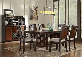 cherry dining room set heights cherry 7 pc dining room rectangle transitional