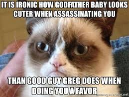 Godfather Baby Meme - it is ironic how godfather baby looks cuter when assassinating you
