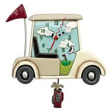 golf cart stay the course golf cart pendulum clock allen designs studio