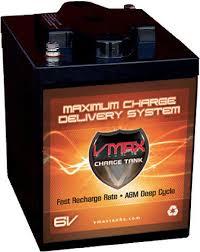 amazon com vmaxtanks 6 volt 225ah agm battery high capacity