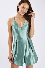topshop crinkle satin prom dress in blue lyst