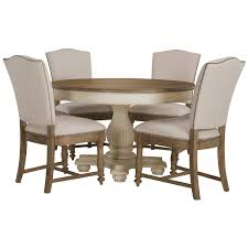 city furniture coventry two tone round table u0026 4 upholstered chairs