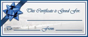 custom gift certificates waste free gift certificates