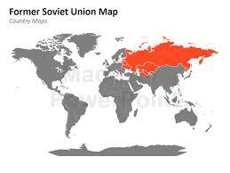 former soviet union map former soviet union map editable powerpoint presentation