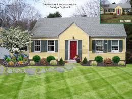 Front Porch Landscaping Ideas Landscape Flower Simple Landscaping Ideas Best Simple