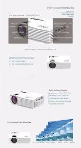 uc36 mini led 400 lumens projector 640x480 pixels micro hdmi usb