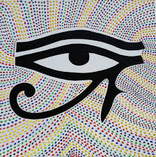 third eye original abstract expressionism eye of horus painting