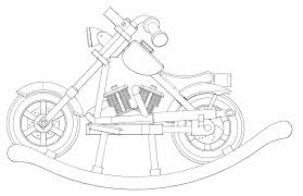 512 custom woodworking archive child u0027s rocking motorcycle side