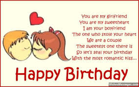 sweet e card poem birthday wishes for girlfriend nicewishes