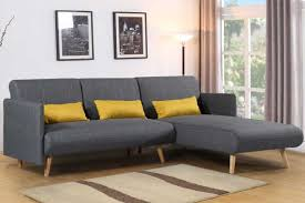 los angeles charcoal grey fabric corner sofa bed u0026 chaise crazy