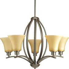 Progress Lighting 5 Light Chandelier Progress Lighting Joy Collection 5 Light Antique Bronze Chandelier