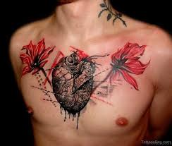 50 flowers tattoos for chest