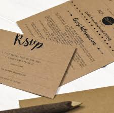 folded invitation brush lettered folded wedding invitation by russet and gray
