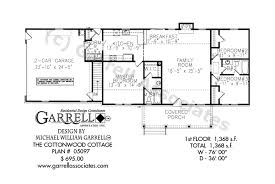 house plans one cottonwood cottage house plan house plans by garrell associates