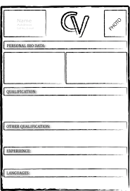 Curriculum Vitae Samples Pdf by Blank Cv Form Format Pdf For Freshers Blank Cv Forms To Fill In