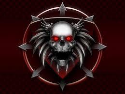 download halloween terror animated wallpaper desktopanimated com red flaming skull wallpaper wallpapersafari