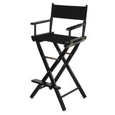 Aluminum Directors Chair Bar Height by Directors Chair 30 In Canvas Tall Seat Wood Folding Hair Stylist