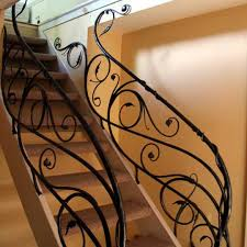 Metal Stair Rails And Banisters These Forged Metal Stair Railings Were Designed To Capture The