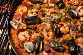 grilled paella recipe chowhound