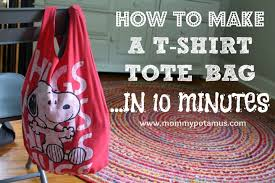 How To Make A Rug From Plastic Grocery Bags How To Make A No Sew T Shirt Tote Bag In 10 Minutes