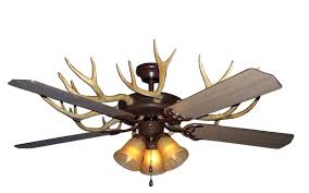 Lodge Ceiling Fans With Lights Antler Ceiling Fan Light Lader Rustic Lodge Fans With Lights