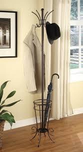 wrought iron coat racks standing rack with umbrella stand portable