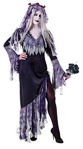 Ghost Bride Halloween Costume Zombie Corpse Bride Ladies Halloween Ghost Fancy Dress Size