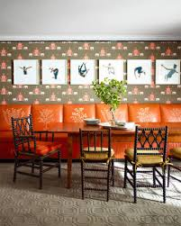 Orange Dining Room Bold Dining Rooms Dining Rooms With Style
