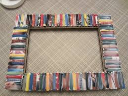 recycled magazine frame diy inspired