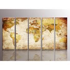 framed vintage retro world map large canvas art prints picture