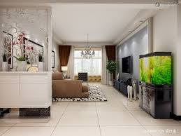 partition for dining room and living room with aquarium with