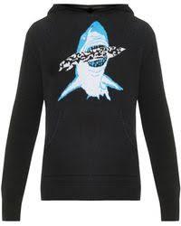 baja east shark hooded cashmere sweater for men lyst