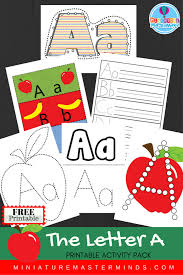 free printable letter a practice pack and alphabet upper and lower