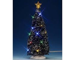collection multi color light evergreen tree large 9 inch