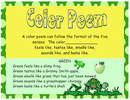 How to Write a Color Poem classroom Helpers Pinterest