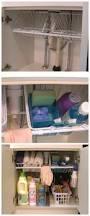 bathroom silver metal shelves under sink organizer for bathroom
