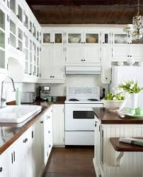 Best Kitchen Images On Pinterest Home Kitchen And Dream - White kitchen cabinets with butcher block countertops