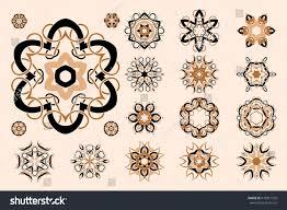 celtic knotwork design set vector stock vector 410917555