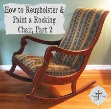Mid Century Rocking Chair For Sale How To Reupholster U0026 Paint A Rocking Chair Part 2 Prodigal Pieces