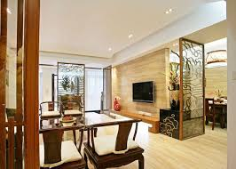Chinese Living Room Chinese Living Room Glass Partition Renderings Interior Design