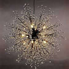 Lighting Fixtures Chandeliers Gdns Chandeliers Firework Led Light Stainless Steel Crystal