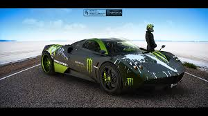 pagani huayra carbon fiber green monsters cars roads vehicles transports tuning pagani