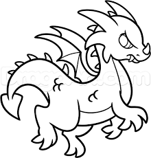 coloring pages pretty easy draw dragons simple drawing