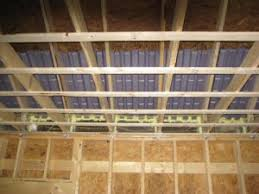 How To Soundproof A Basement Ceiling by How To Strap A Ceiling Before Installing Drywall One Project Closer