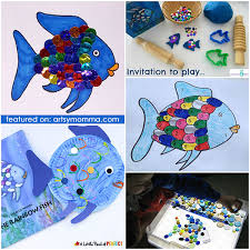rainbow fish book extensions artsy momma