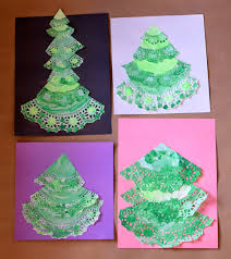 paper doily christmas trees what can we do with paper and glue