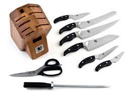 ken kitchen knives shun ken 9 knife block set woot