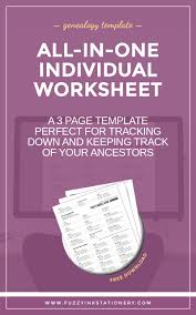 updated the ultimate all in one genealogy worksheet genealogy