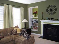 painted living rooms two toned brown paint ideas home